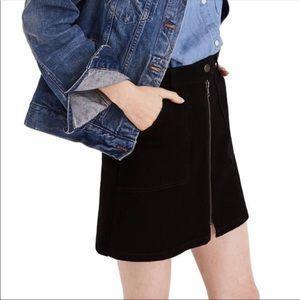 Madewell size 24 military zip up mini skirt.